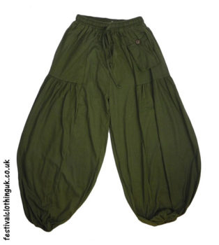 Festival-Baggy-Trousers-with-Elastic-Waist-Green