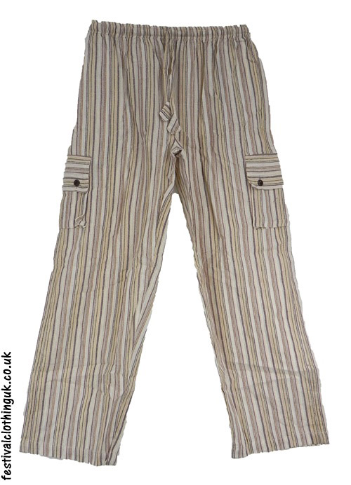 Festival-Cargo-Trousers-Striped-Beige-Cream