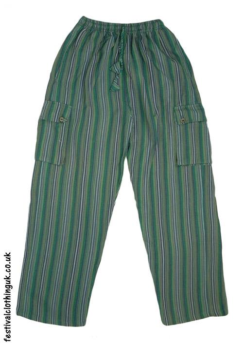 Festival-Cargo-Trousers-Striped-Green