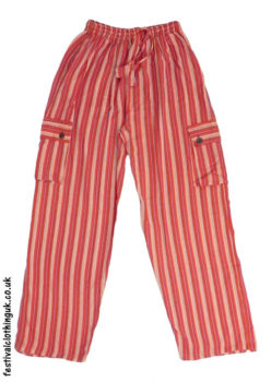 Festival-Cargo-Trousers-Striped-Orange