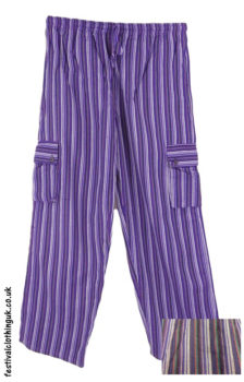 Festival-Cargo-Trousers-Striped-Purple-Multicolour