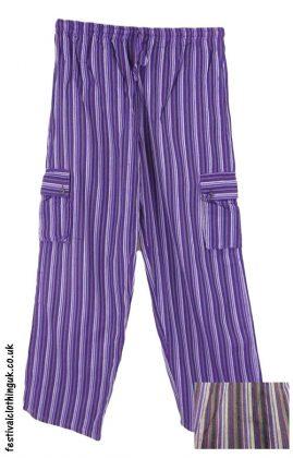 Festival-Cargo-Trousers-Striped-Purple-Multicolour