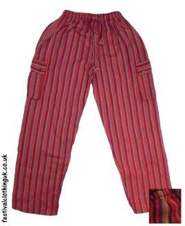 Festival-Cargo-Trousers-Striped-Red
