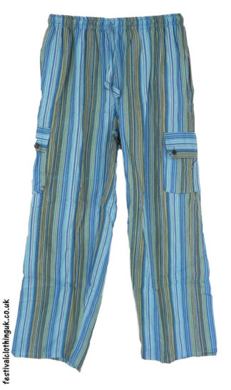 Festival-Cargo-Trousers-Turquoise