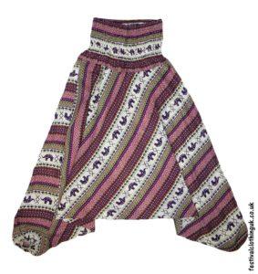 Festival-Harem-Ali-Baba-Trousers-Burgundy-Elephant-Pattern-1