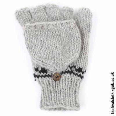 2-in-1-Fingerless-Mitten-Wool-Gloves-Grey2-in-1-Fingerless-Mitten-Wool-Gloves-Grey