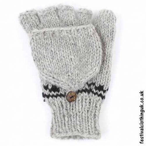 2-in-1-Fingerless-Mitten-Wool-Gloves-Grey2-in-1-Fingerless-Mitten-Wool-Gloves-Grey