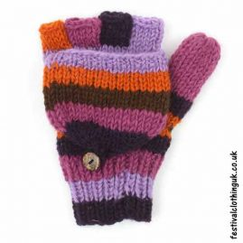 2-in-1-Fingerless-Mitten-Wool-Gloves-Purple