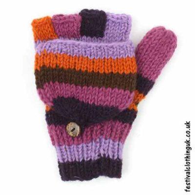 2-in-1-Fingerless-Mitten-Wool-Gloves-Purple