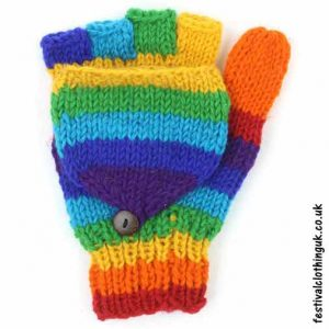 2-in-1-Fingerless-Mitten-Wool-Gloves-Rainbow