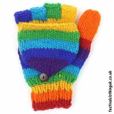 2-in-1-Fingerless-Mitten-Wool-Gloves-Rainbow