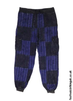 Blue-Over-Dyed-Patchwork-Festival-Trousers