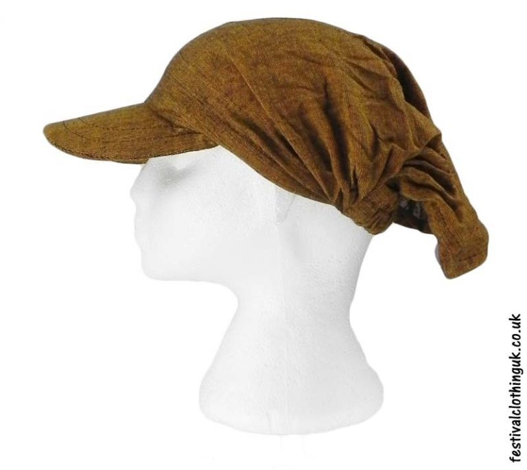Brown-Cap-Headband-Festival-Hat