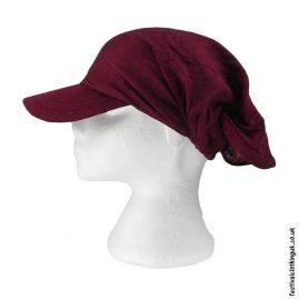 Burgundy-Cap-Headband-Festival-Hat