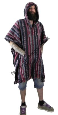 Cotton Festival Poncho - Being Worn by Male