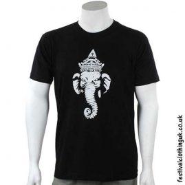Cotton-Festival-T-Shirt-Black-Ganesh