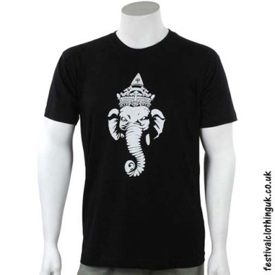 Cotton-Festival-T-Shirt-Black-Ganesh