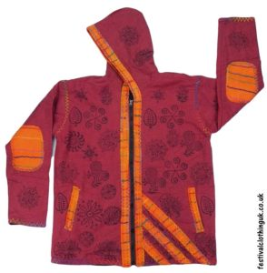 Cotton-Hooded-Festival-Jacket-Burgundy