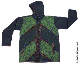 Cotton-Hooded-Festival-Jacket-Charcoal-Green