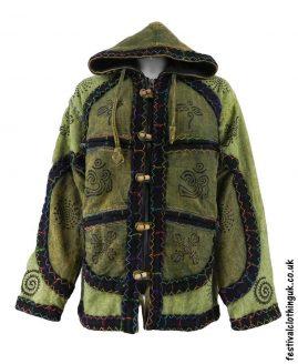 Cotton-Hooded-Festival-Jacket-Light-Green
