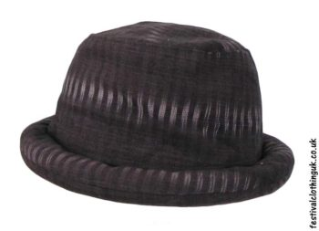 Cotton-Rimmed-Festival-Hat-Dark-Brown