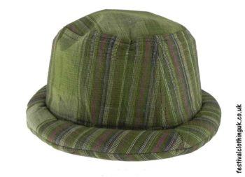 Cotton-Rimmed-Festival-Hat-Green