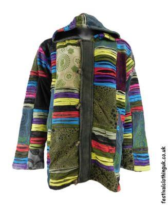 Cotton-&-Velvet-Patchwork-Hooded-Festival-Jacket