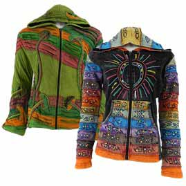 Embroidery Hooded Jackets