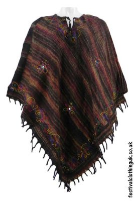 Embroidery-Festival-Poncho-Black