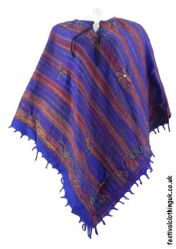 Embroidery-Festival-Poncho-Blue