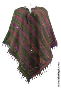 Embroidery-Festival-Poncho-Green