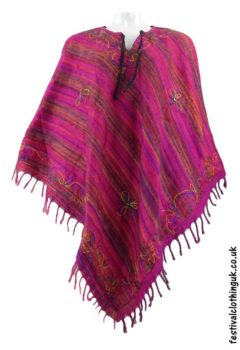 Embroidery-Festival-Poncho-Pink