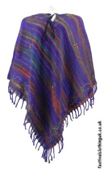 Embroidery-Festival-Poncho-Purple