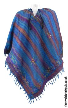 Embroidery-Festival-Poncho-Turquoise