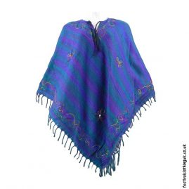 Embroidery-Festival-Poncho-Turquoise-Pink-Purple-1