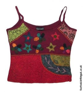 Embroidery-Festival-Vest-Top-Burgundy-Flower
