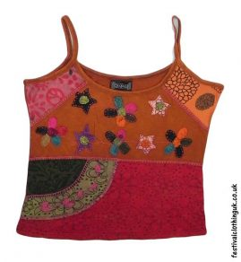 Embroidery-Festival-Vest-Top-Orange-Flower