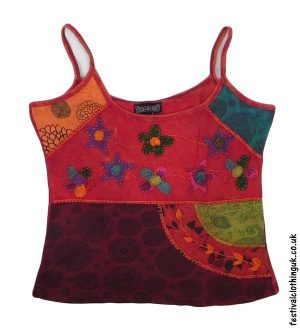 Embroidery-Festival-Vest-Top-Red-Flower