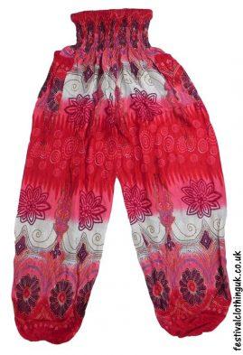 Festival-Harem-Genie-Pants-Red