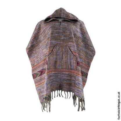 Festival-Hooded-Poncho-Purple-Orange