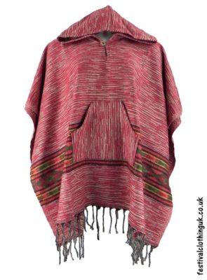 Acrylic Festival Poncho - Hooded Poncho