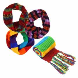 Wool Scarves and Snoods