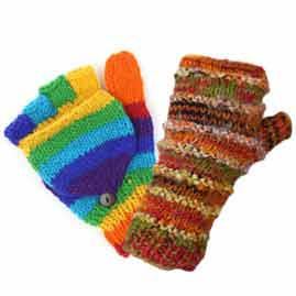 Wool Gloves and Wrist Warmers