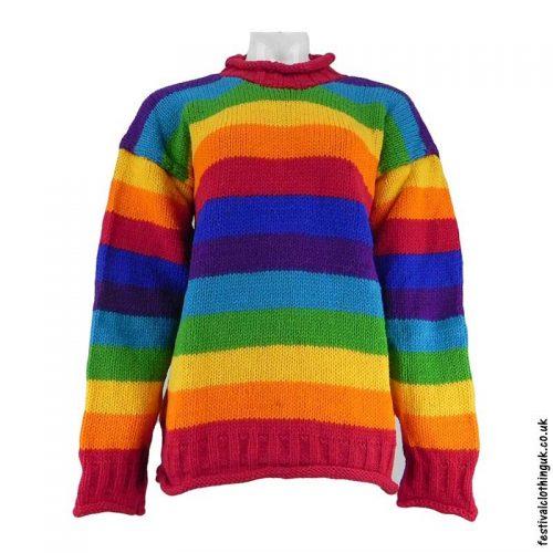 Festival-Wool-Jumper-Striped-Rainbow