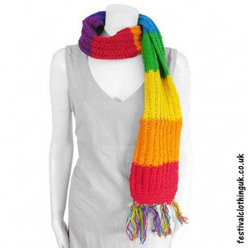 Festival-Wool-Scarf-Rainbow
