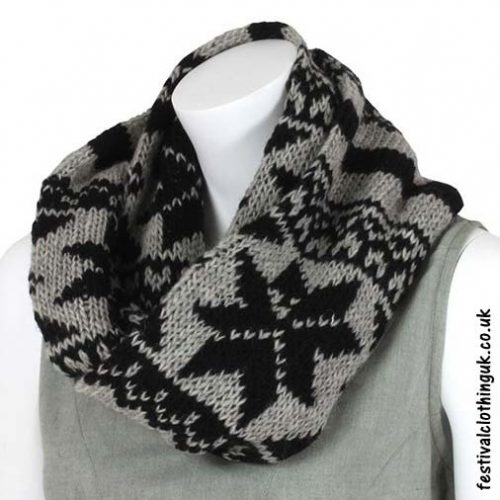 Festival-Wool-Snood-Black-Grey