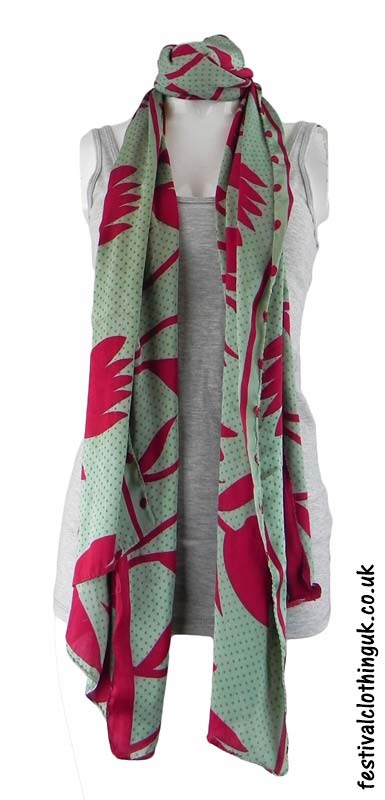 Green-Recycled-Indian-Sari-Festival-Scarf