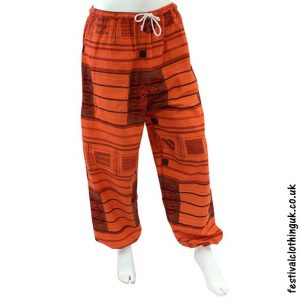 Heavy Cotton Festival Trousers Orange