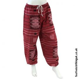 Heavy Cotton Festival Trousers Red