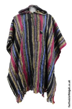 Hooded-Cotton-Festival-Poncho-Red-Yellow-Blue